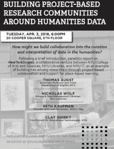 Building Project-Based Research Communities around Humanities Data