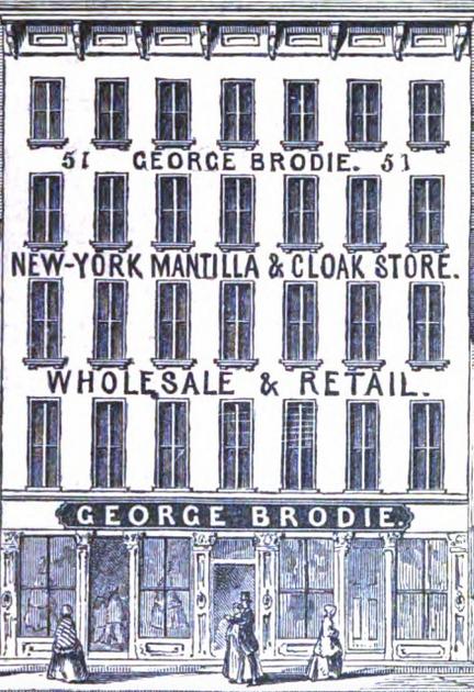 Brodie Cloak Maker Ad 1857